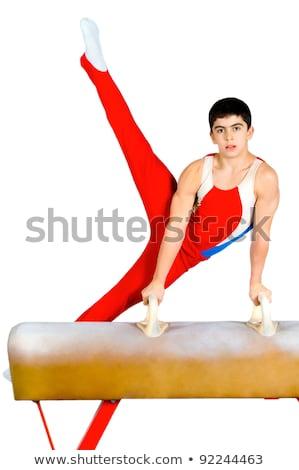 Ragazzo fuori difficile esercizio sport Foto d'archivio © dacasdo