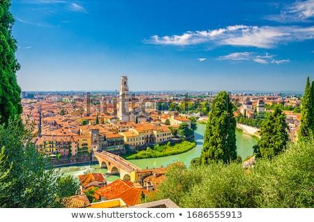 Arquitectura histórica verona Italia edificio pared arquitectura Foto stock © Spectral
