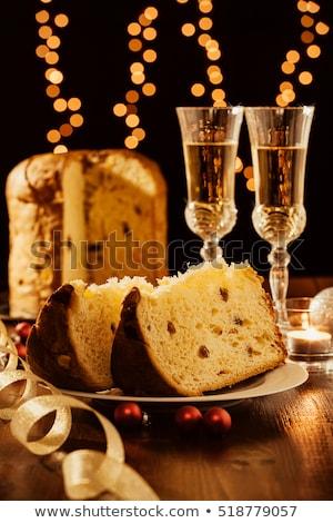 イタリア語 クリスマス ガラス リボン クリスマスツリー シャンパン ストックフォト © aladin66