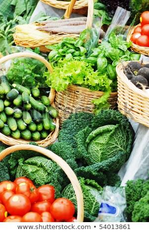 Farklı ekolojik sebze pazar tablo çok Stok fotoğraf © taden