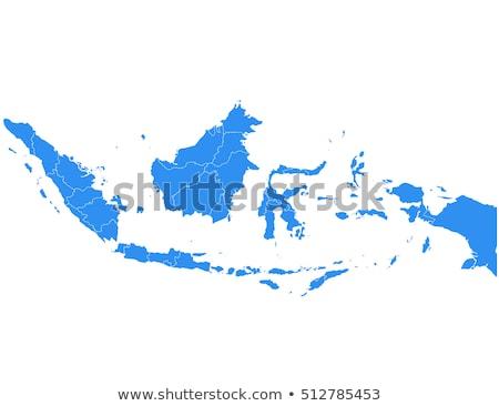 Indonesia map Stock photo © Volina