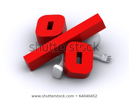 3d character crushed by big percent symbol Stock photo © Kirill_M