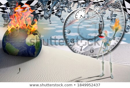 robot holds red earth globe stock photo © kirill_m