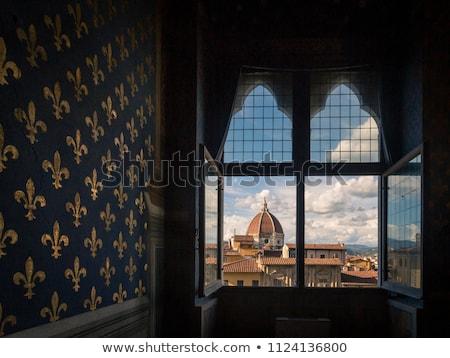 Ablak Firenze kilátás ki öreg lefelé néz Stock fotó © Stootsy