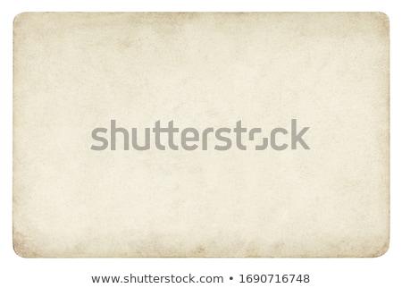 Eski kağıt yalıtılmış beyaz kâğıt dizayn Stok fotoğraf © 5xinc