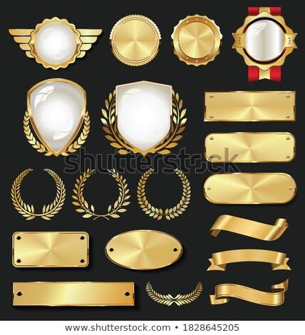 dourado · garantir · etiqueta · vetor · negócio · assinar - foto stock © burakowski