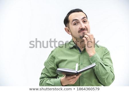 あごひげ ビジネスマン シート 紙 ビジネス 男 ストックフォト © sebastiangauert