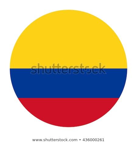 Colombia zászló ikon izolált fehér terv Stock fotó © zeffss