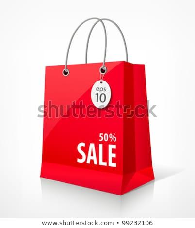 vente · sacs · icônes · symboles · bannière - photo stock © fenton