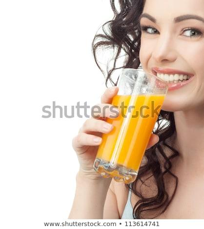 Frutta fresca gioia magnifico giovani bruna donna Foto d'archivio © lithian
