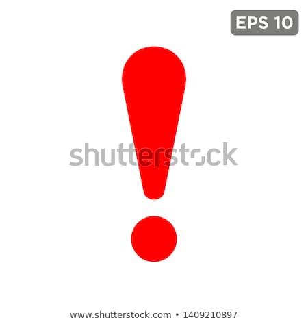 Vector uitroepteken icon witte ontwerp teken Stockfoto © nickylarson974