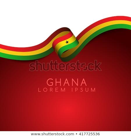 National flag of Ghana themes idea design Stock photo © kiddaikiddee