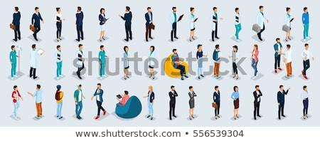 3d osób mężczyzn zespołowej biuro grupy wykonawczej Zdjęcia stock © designers
