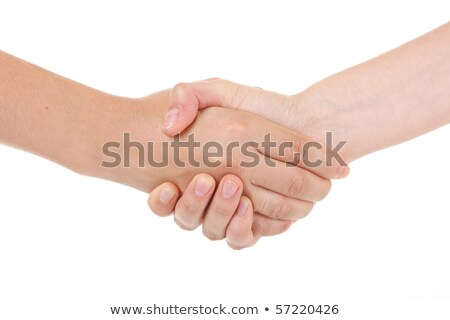 Businesswoman greeting with hands clasped Stock photo © bmonteny