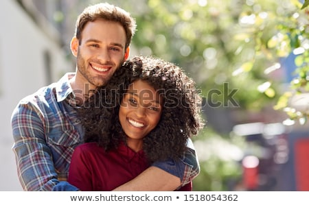 счастливым пару гетеросексуальные пары чувственный поцелуй Сток-фото © stryjek