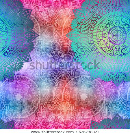 Seamless geometric mandala pattern stock photo © elenapro