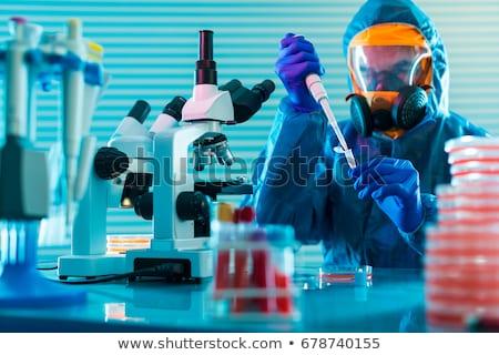 geïnfecteerde · virus · Blauw · stoel · Rood · zorg - stockfoto © unkreatives