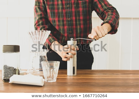 Café feijões branco velho grãos de café isolado Foto stock © InTheFlesh