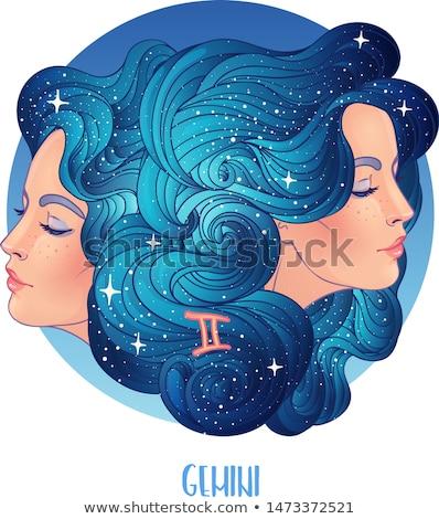 Zodiaco oroscopo segno bella ragazza fuoco design Foto d'archivio © BlueLela
