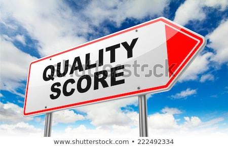 品質 スコア 赤 道路標識 碑文 空 ストックフォト © tashatuvango