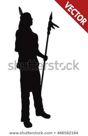 indian silhouette stock photo © lenm