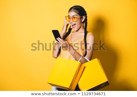 美しい 小さな 買い物客 肖像 ショッピングバッグ ストックフォト © lithian