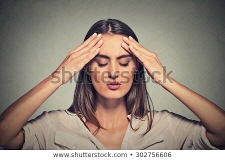 Female student having a bad day Stock photo © iko
