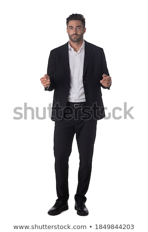 handsome business man presenting stock photo © feedough
