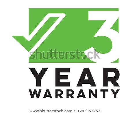 3 years warranty green vector icon design stock photo © rizwanali3d
