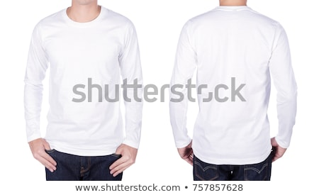 white shirt with long sleeves isolated on white background stock photo © ozaiachin