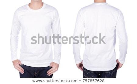 Fehér póló hosszú izolált divat terv Stock fotó © ozaiachin