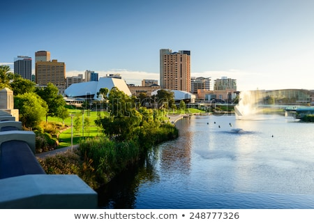 Adelaide ciudad Australia puesta de sol centro de la ciudad cielo Foto stock © ymgerman
