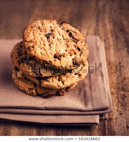 csokoládé · chip · sütik · csésze · fa · asztal · étel - stock fotó © art9858