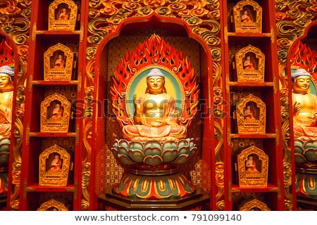 Interior of the Buddha Tooth Relic Temple in Singapore Stock photo © pzaxe
