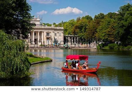 公園 ワルシャワ ポーランド 宮殿 水 空 ストックフォト © neirfy