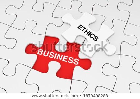 Rules - White Word on Red Puzzles. Stock photo © tashatuvango