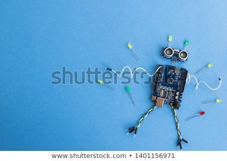 Metal yenilik metin imzalamak mektup beyaz Stok fotoğraf © bosphorus