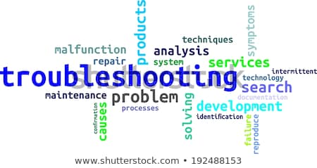 word cloud - troubleshooting Stock photo © master_art