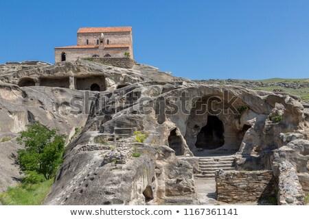 uplistsikhe cave town georgia stock photo © joyr