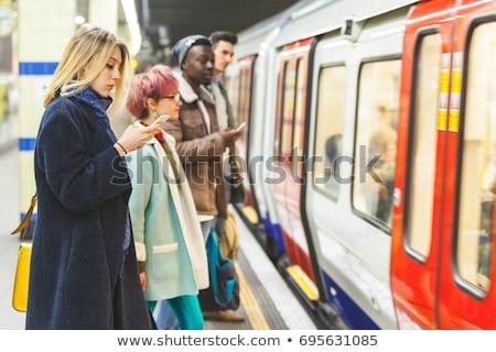 Kadın metro istasyon genç kadın kış kat Stok fotoğraf © kasto