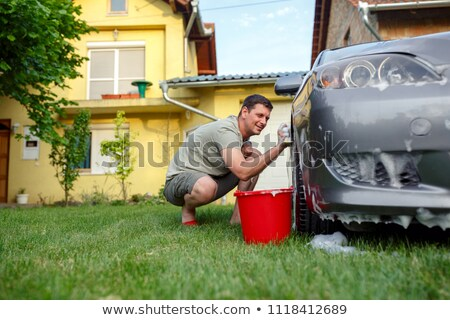 Close up of man cleaning his car Stock photo © wavebreak_media