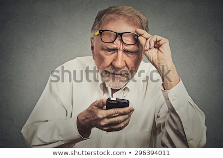 old man stunned Stock photo © ambro
