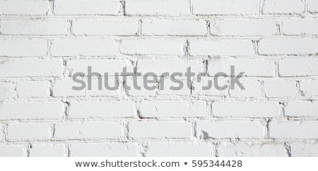 Whitewashed paint on stone wall close up. Stock photo © latent