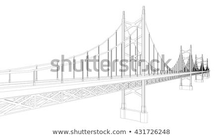 vector bridge 3d illustration stock photo © slobelix