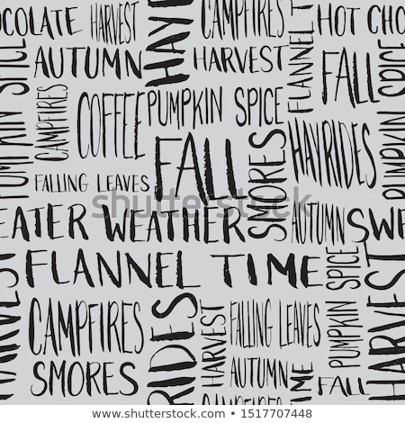 drawn leaves and word fall stock photo © cherezoff
