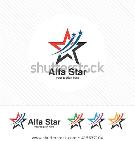 red flower vector star icon Stock photo © blaskorizov