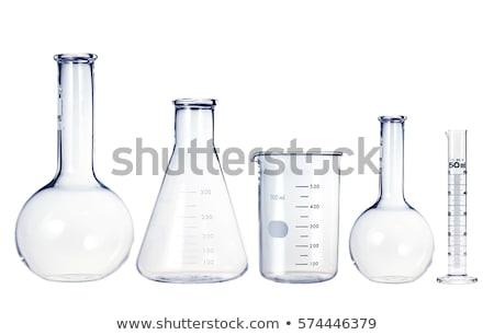 Test-tubes isolated on white. Laboratory glassware Stock photo © tetkoren