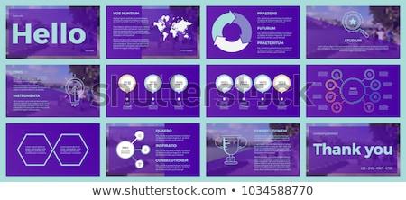 Vetor modelo apresentação projeto negócio Foto stock © orson
