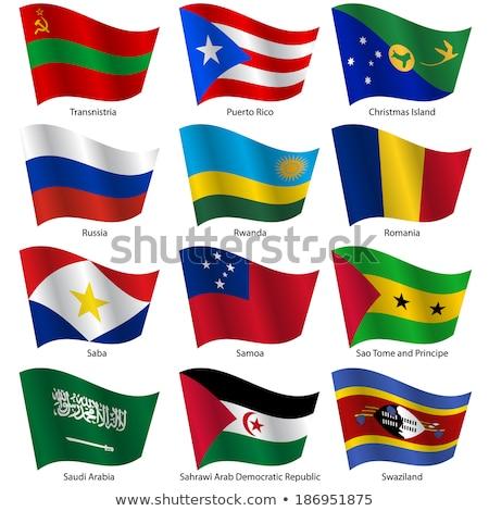Saoedi-Arabië Puerto Rico vlaggen puzzel geïsoleerd witte Stockfoto © Istanbul2009