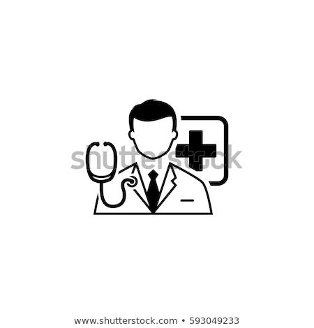 Doktor danışma ikon dizayn yalıtılmış örnek Stok fotoğraf © WaD